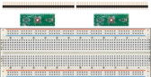 Schmartboard 2 Pack of Schmartboard|ez 0.5mm Pitch, 44 Pin QFP/QFN to DIP adapter Plus a Free Breadboard (204-0045-31)