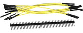 "Schmartboard Qty. 10 5"" Yellow  Female Jumpers and 40 Headers (920-0006-01)"