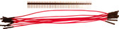 "Schmartboard Qty. 10 7"" Red Female Jumpers and 40 Headers (920-0104-01)"
