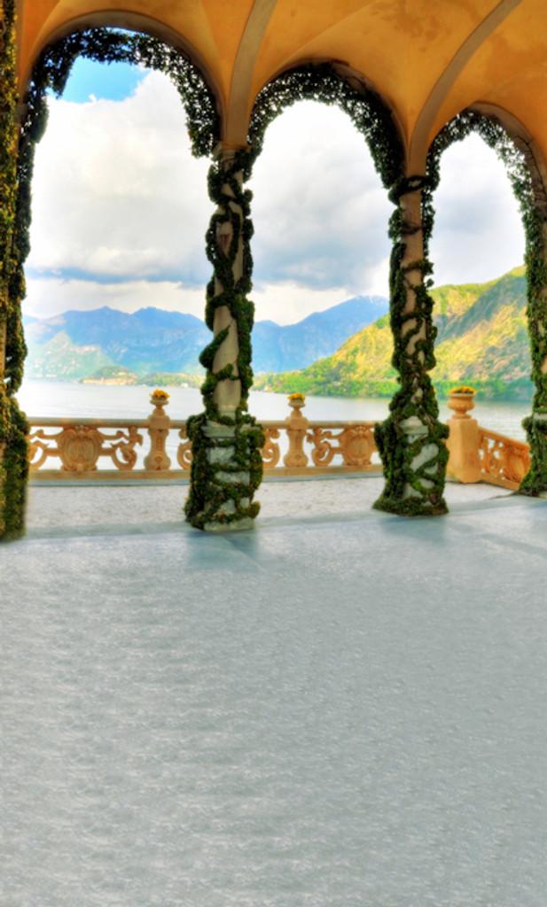 Lake Villa Backdrop