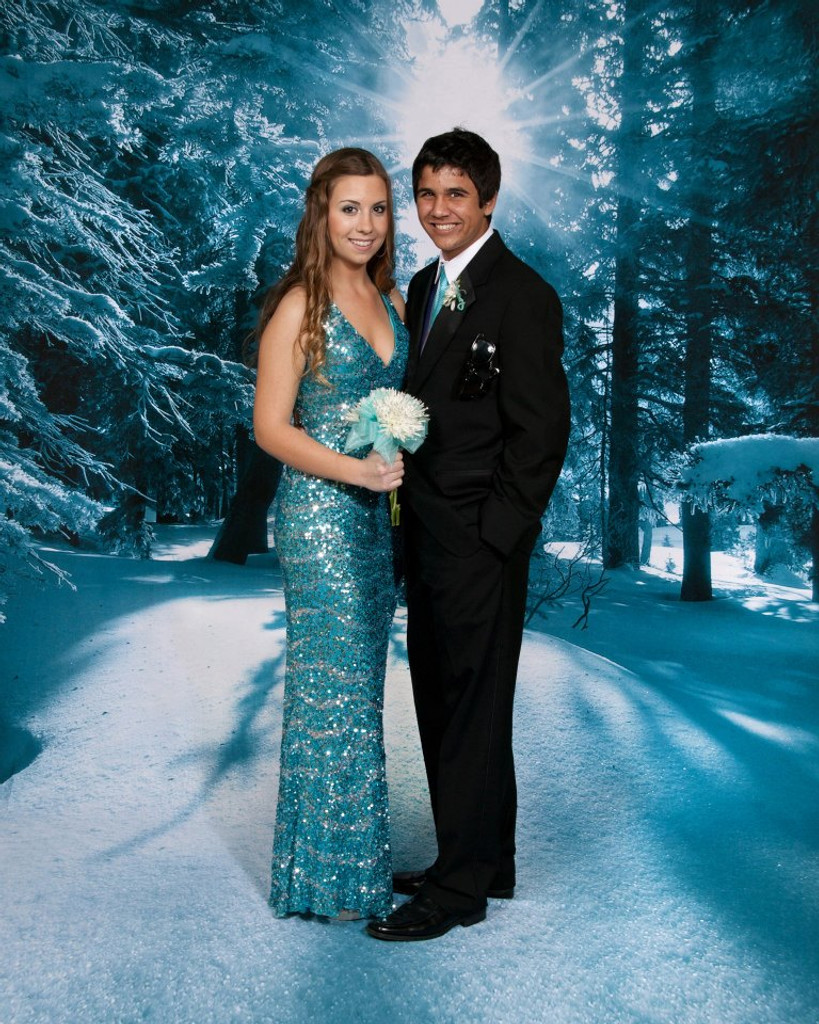 Magical Snowfall Backdrop