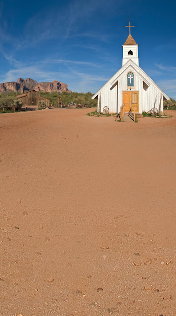 Old West Church Backdrop
