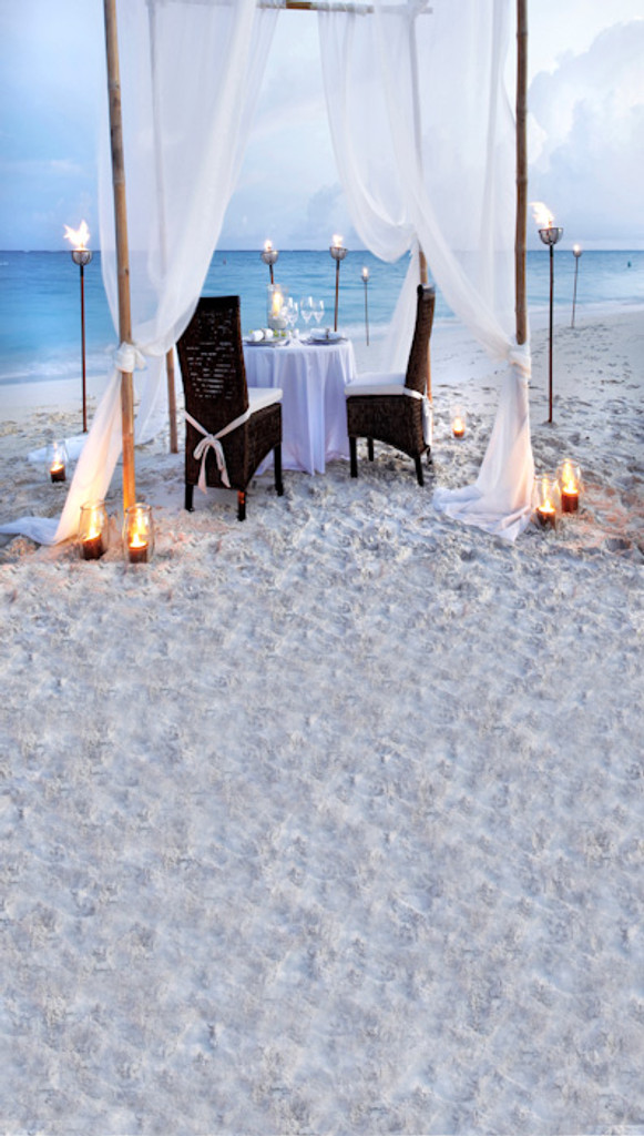 Engagement on the Beach Backdrop