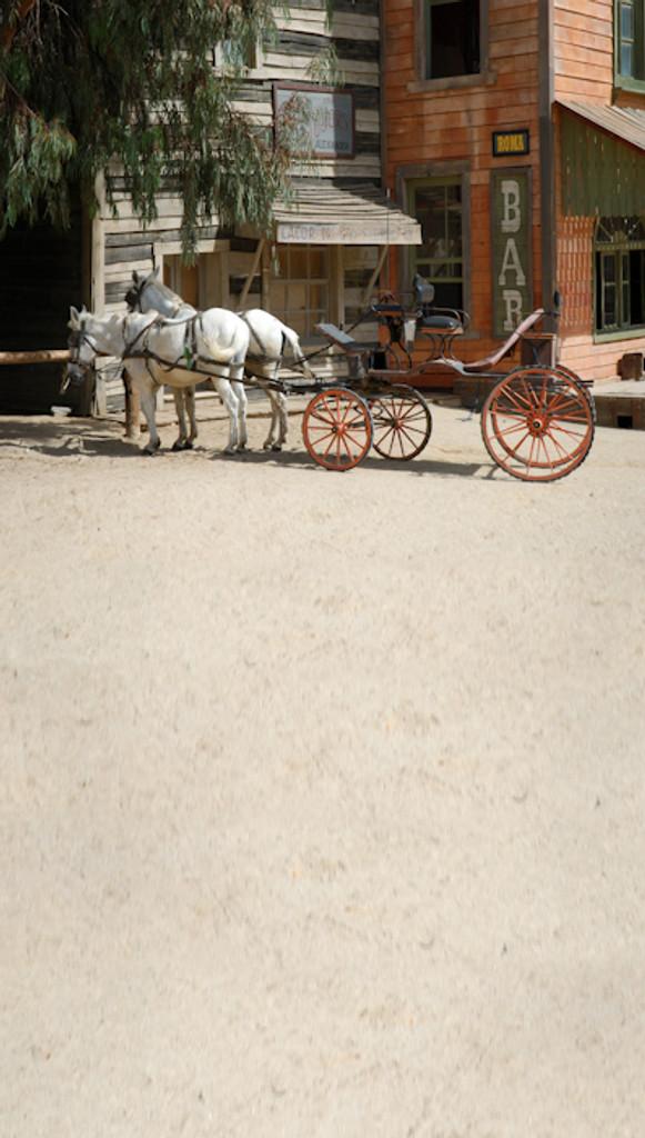 Old West Transportation Backdrop
