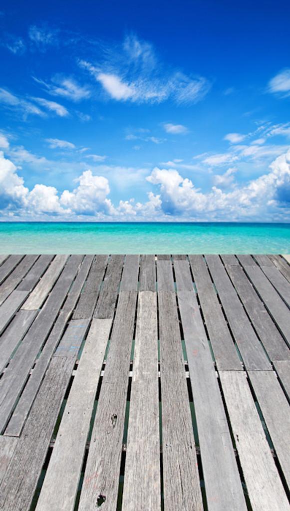 Dock Over the Ocean Backdrop