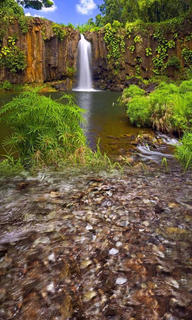 Friendly Waterfall Backdrop