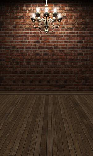 Elegant Brick Room Backdrop