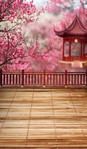 Spring Pagoda Backdrop