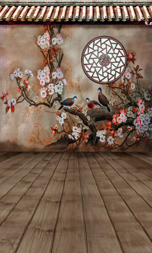 Asian Painted Wall Backdrop