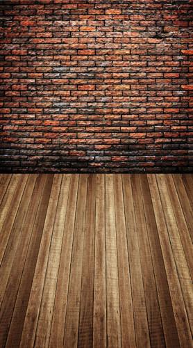 Parti-colored Brick Room Backdrop