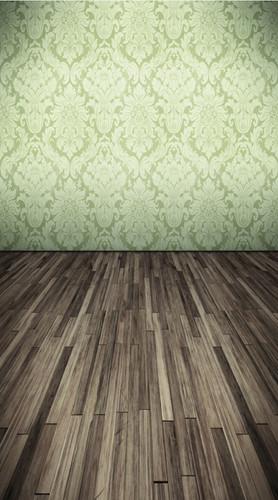 Pistachio Damask Room Backdrop