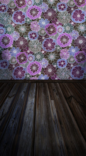 Purpledelic Planks Backdrop