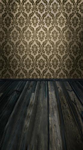 Acanthus Damask Room Backdrop-(Chestnut)