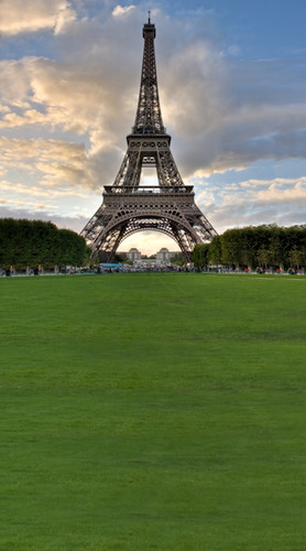Eiffel Tower Lawn Backdrop