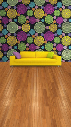 Kaleidoscope Room-Plank Floor Backdrop