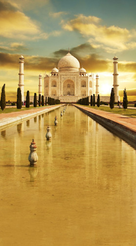 Taj Mahal Sunset Backdrop
