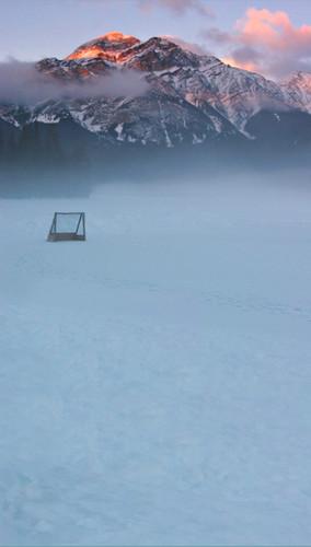 Hockey Pond Backdrop