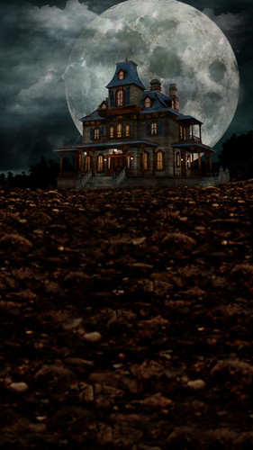 Moon Mansion Backdrop