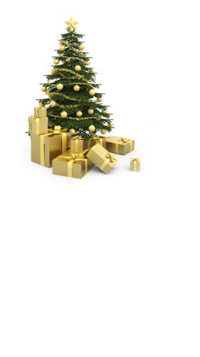 Gold Christmas Tree Backdrop