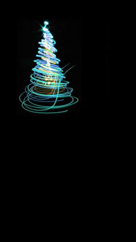Swirl Tree-Neon Blue Backdrop