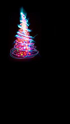 Swirl Tree-Neon Pink Backdrop