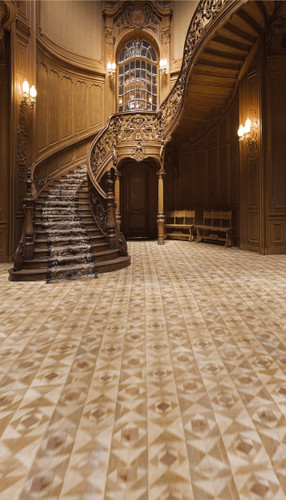 Carved Staircase Backdrop