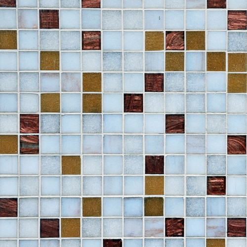 Blue and Brown Tile Floor