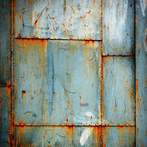 Blue Rusted Metal Floor