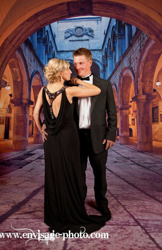 Arched Court Backdrop