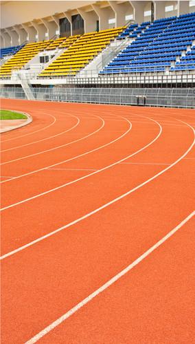 Curved Stadium Track Backdrop