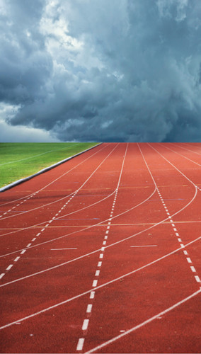 Cloudy Track Backdrop