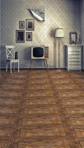 Vintage TV Room Backdrop