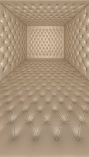 Ivory Tufted Room Backdrop