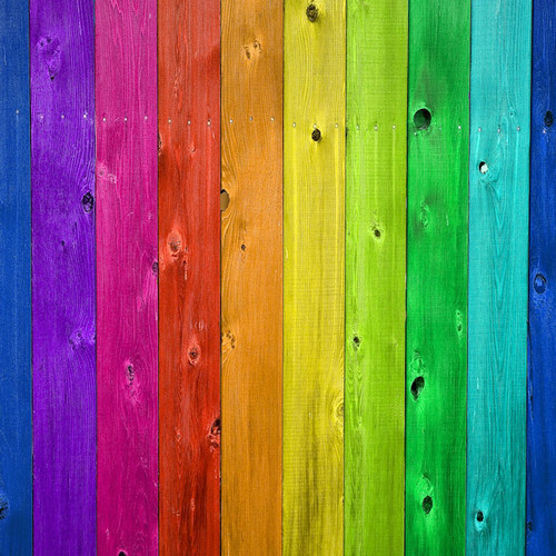 Bright Rainbow Wood Flooring