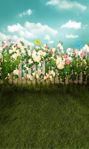 Floral Fence Backdrop