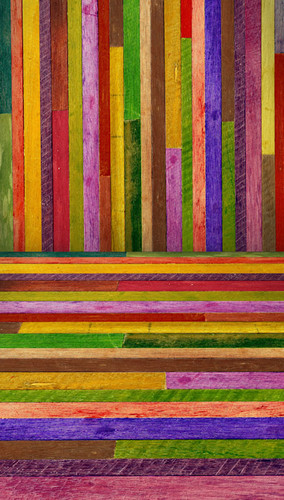 Crayon Colored Planks