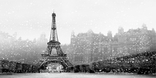 Winter Eiffel Tower Wide Format