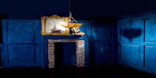 Colonial Blue Room Wide Format