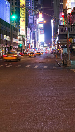Times Square at Night Backdrop