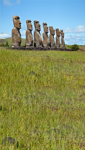 Easter Island Backdrop