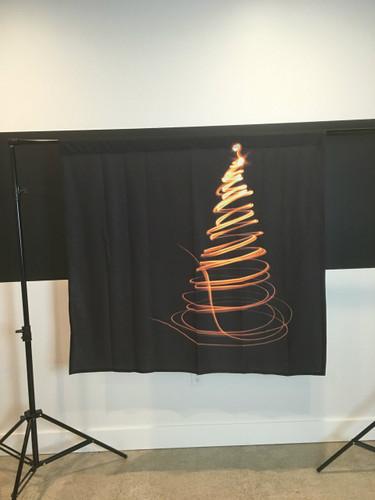 Single Swirl Tree - Gold 4x4 JerseyCloth Backdrop