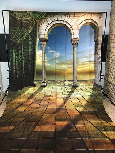 Columned Porch 9x16 PrismaCloth Backdrop
