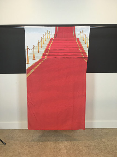 """Red Carpet Stairway 39""""x65"""" JerseyCloth Backdrop"""