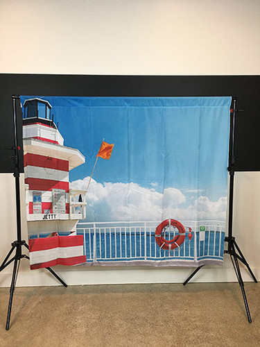 Dock on the Bay 6x5 JerseyCloth Backdrop