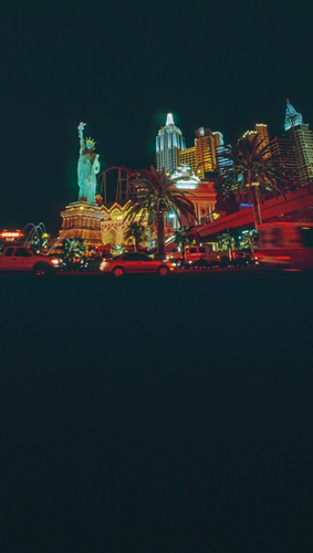 Vegas Skyline Backdrop