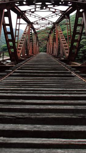 Rusty Rail Bridge Backdrop