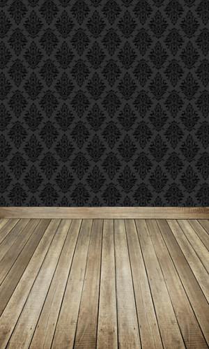 Argyle Damask (Black on Black) Backdrop