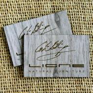 Wooden Engraved Business Cards - walnut wood veneer business cards