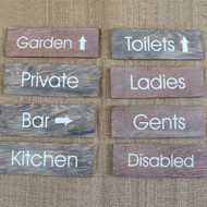 Hotel, B&B & Pub Directional Signs - wooden signs produced from 4mm stained and distressed pine.