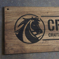 Distressed Oak Signs - engraved 8mm thick wooden planks - ideal for a vintage, rustic look.